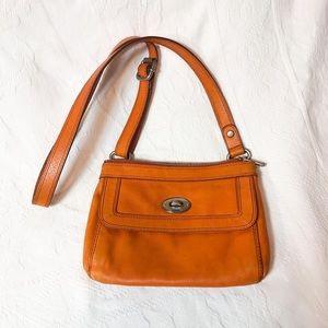 Orange leather Crossbody bag by Fossil